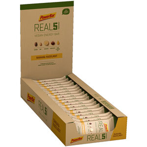 PowerBar REAL5 Riegel Box 18x65g Banane Haselnuss