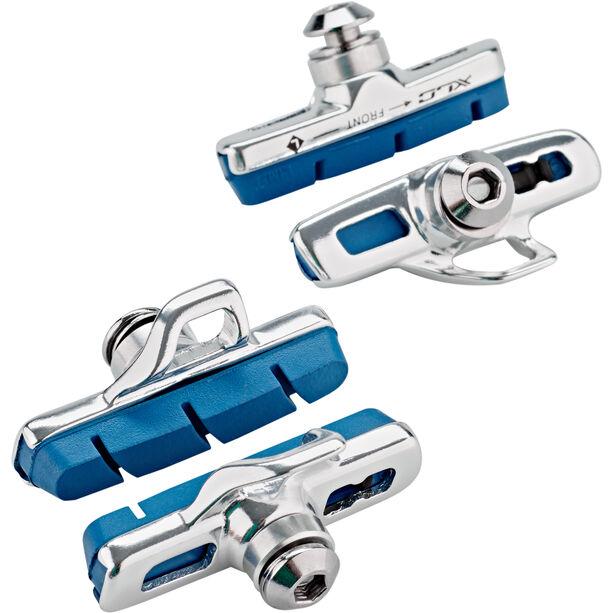 XLC Cartridge Campa Road Bremsschuhe 4er Set 50mm für Carbon silber/blau