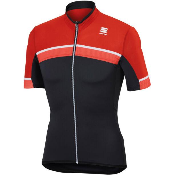Sportful Pista Kurzarm-Trikot Herren red/black