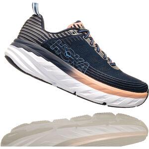 Hoka One One Bondi 6 Running Shoes Damen mood indigo/dusty pink mood indigo/dusty pink