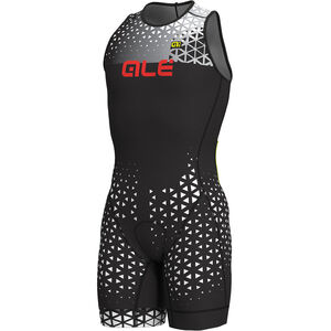 Alé Cycling Rush Olympic Tri Sleeveless Unitard Short Herren black-white black-white
