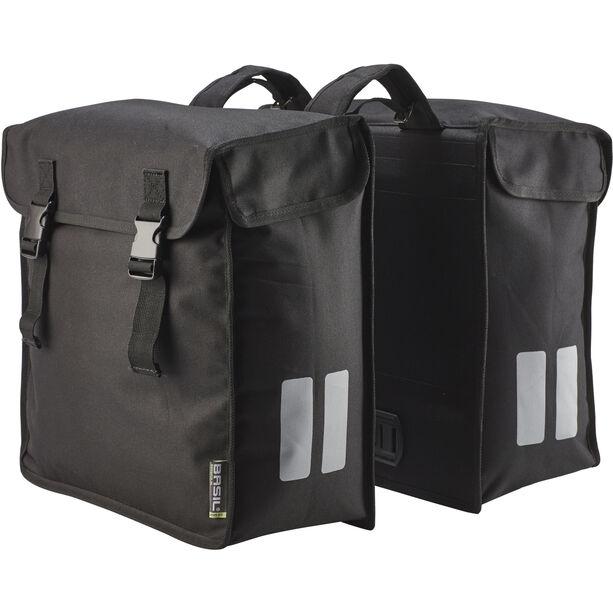 Basil Mara Double Pannier Bag XXL, 47l schwarz