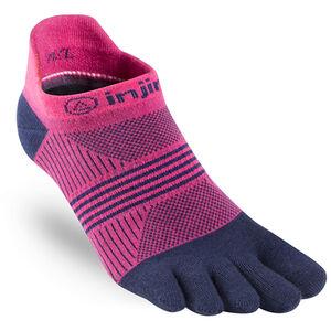 Injinji Run Coolmax Xtra Lightweight No Show Socks Women Pink/Navy
