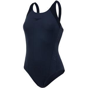 speedo Boom Splice Muscleback Swimsuit oxid grey/black