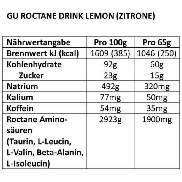 GU Energy Roctane Ultra Endurance Energy Drink Mix Tub 780g Lime