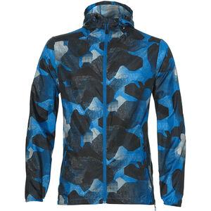 asics fuzeX Packable Jacket Herren camo geo directoire blue camo geo directoire blue