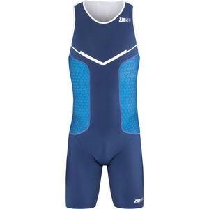 Z3R0D Racer Trisuit Herren dark blue/white dark blue/white