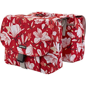 Basil Magnolia S Double Pannier Bag 25l poppy red poppy red
