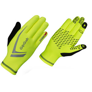 GripGrab Running Expert Hi-Vis Winter Touchscreen Gloves fluo yellow fluo yellow