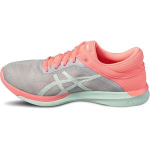 asics Fuzex Rush Shoes Damen midgrey/bay/flash coral midgrey/bay/flash coral