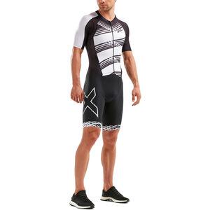 2XU Compression Full-Zip Sleeved Trisuit Herren black/black white lines black/black white lines