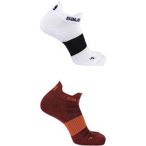 Salomon Sense Socks 2 Pack Biking Red/White