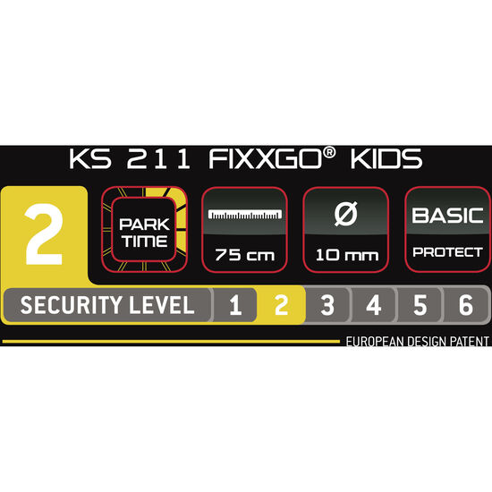 Trelock KS 211 Fixxgo Kids Kabelschloss bei fahrrad.de Online