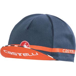 Castelli Free Cycling Cap midnight navy/orange bei fahrrad.de Online
