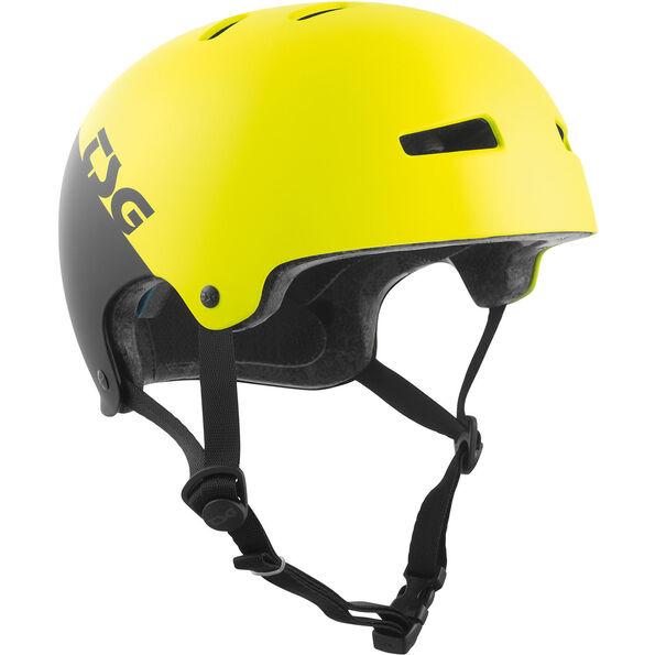TSG Evolution Graphic Design Helmet Youth divided acid yellow-black