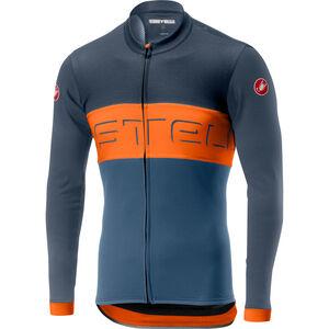 Castelli Prologo VI LS FZ Jersey Herren dark blue/orange/light blue dark blue/orange/light blue