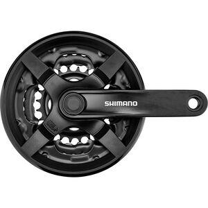 Shimano FC-TY301 Kurbelgarnitur Vierkant 6/7/8-fach 42/34/24 Zähne schwarz schwarz