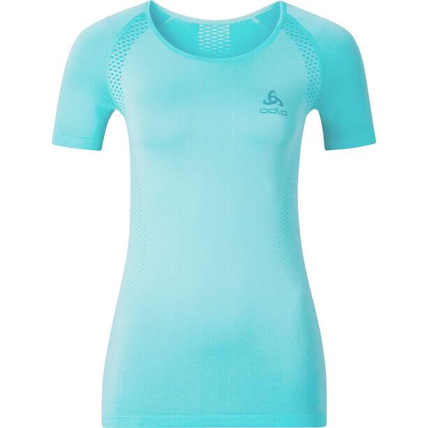 Odlo Seamless Light Rundhals Kurzarmshirt Damen blue radiance/bluebird