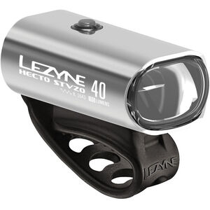 Lezyne Hecto Drive 40 Vorderlicht StVZO glossy silver glossy silver
