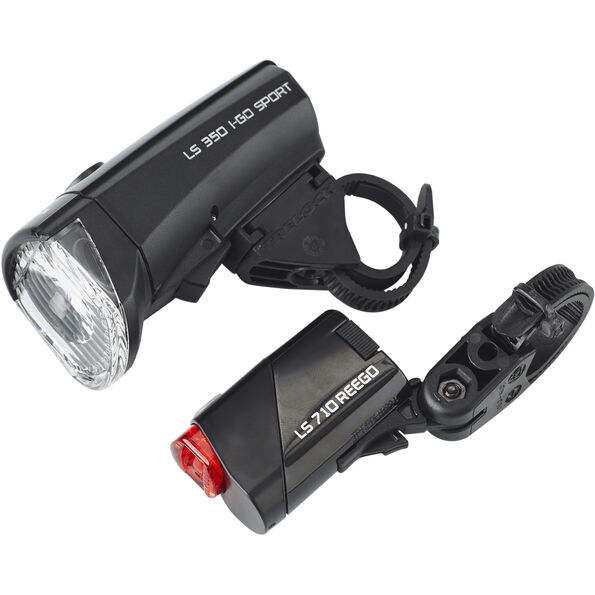 Trelock LS350 I-GO Sport + LS710 REEGO Beleuchtungsset