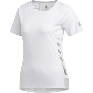 adidas 25/7 Rise Up N Run Kurzarm T-Shirt Damen white white
