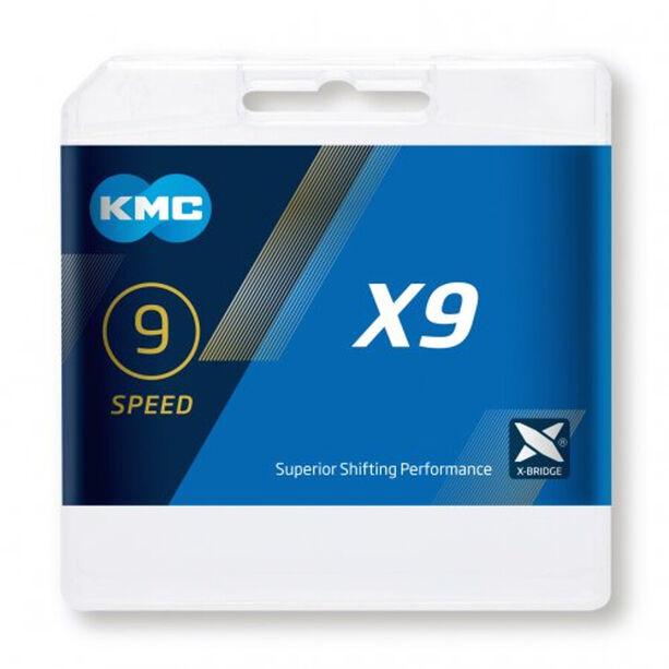 KMC X9 Kette 9-fach grau