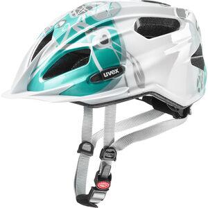 UVEX Quatro Junior Helmet white/turquoise bei fahrrad.de Online