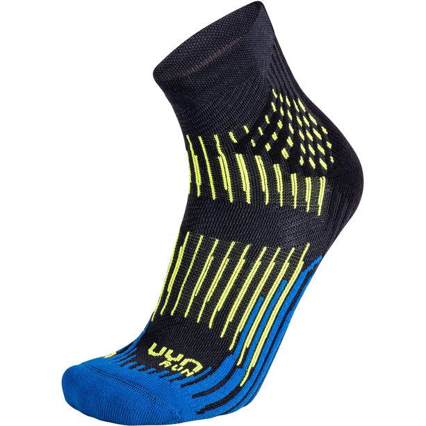 UYN Run Shockwave Socken Herren anthracite/royal blue/yellow fluo