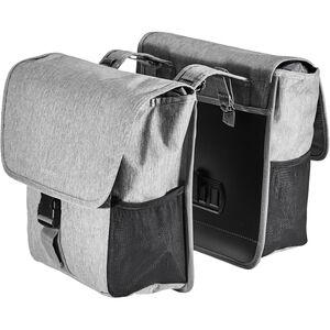 Basil GO Double Pannier Bag 32l grey melee grey melee