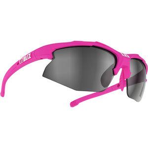 Bliz Hybrid M12 Brille für schmale Gesichter rubber neon pink/smoke with silver mirror rubber neon pink/smoke with silver mirror