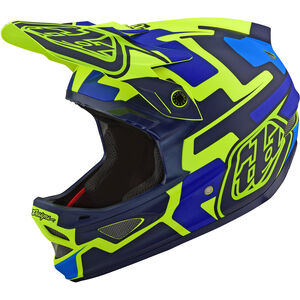 Troy Lee Designs D3 Fiberlite Speedcode Helmet yellow/blue yellow/blue