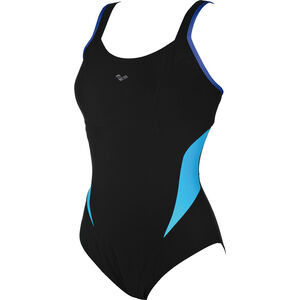 arena Makimurax Low C Cup One Piece Swimsuit Damen black-bright blue-turquoise black-bright blue-turquoise