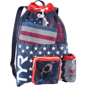 TYR Big Mesh Mummy Backpack red/navy