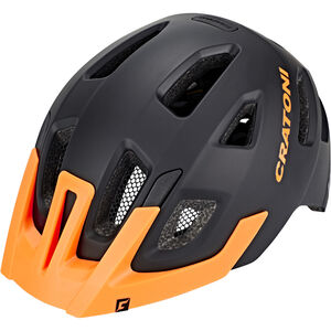 Cratoni Maxster Pro Helmet Kinder black-orange matt black-orange matt