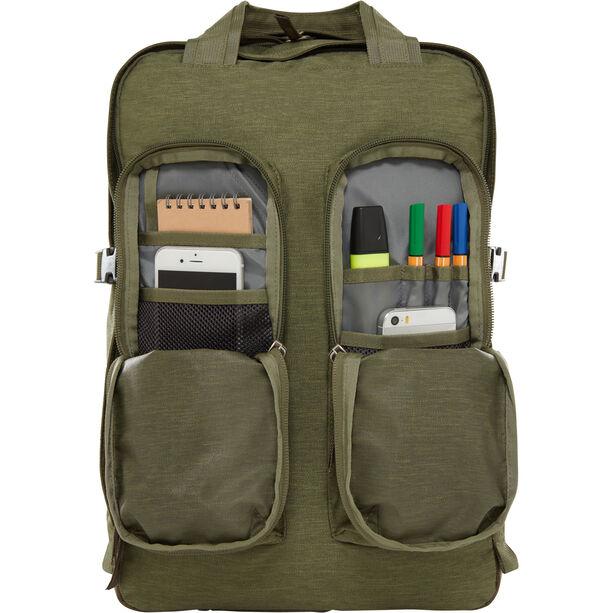 The North Face Mini Crevasse Backpack four leaf clover dark heather/new taupe green dark heath