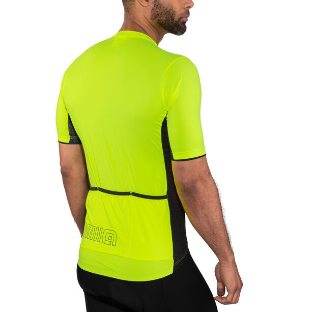 Alé Cycling Solid Color Block SS Jersey Herren flou yellow