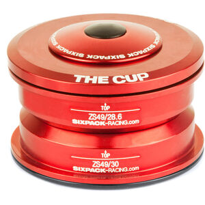 Sixpack The Cup Steuersatz ZS49/28.6 I ZS49/30 red