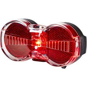 Busch + Müller Toplight Flat S Batterie-Rücklicht permanent schwarz/rot schwarz/rot