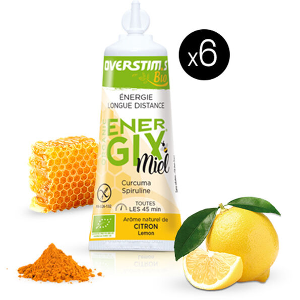 OVERSTIM.s Energix Liquid Gel Box 6x25g Honey Lemon & Turmeric