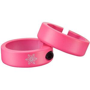 Supacaz Star Ringz Klemmringe neon pink matt-pulverbeschichtet neon pink matt-pulverbeschichtet