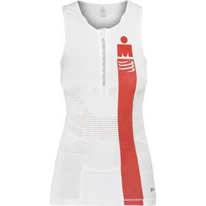 Compressport TR3 Triathlon Tank Top Ironman Edition Damen smart white smart white