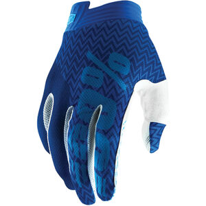 100% iTrack Gloves blue/navy blue/navy