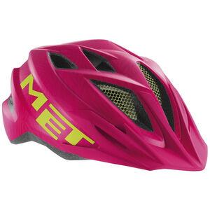 MET Crackerjack Helm Kinder pink/green texture pink/green texture