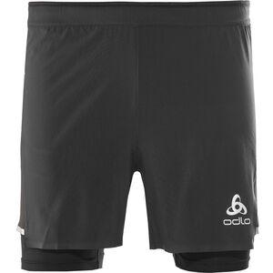 Odlo Zeroweight Ceramicool 2-In-1 Shorts Men black-black
