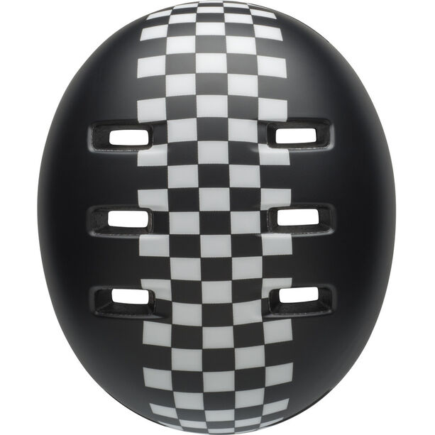 Bell Lil Ripper Helmet Kinder matte black/wh check