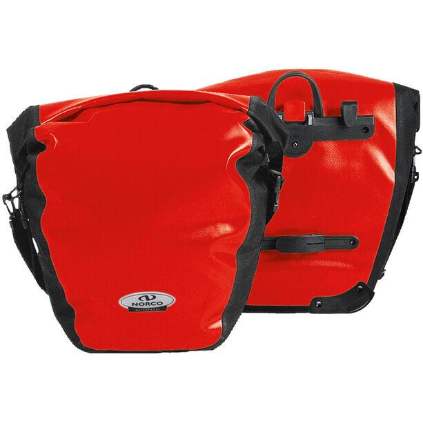 Norco Arkansas Hinterradtasche rot/schwarz