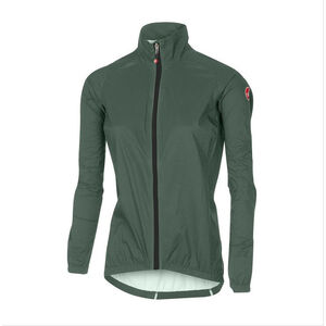 5d386423197c90 Castelli Emergency Jacket Damen forest grey forest grey