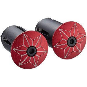 Supacaz Star Plugz Lenkerendkappen eloxiert rot rot