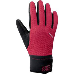Shimano Windbreak Reflektierende Thermo Handschuhe Herren red red