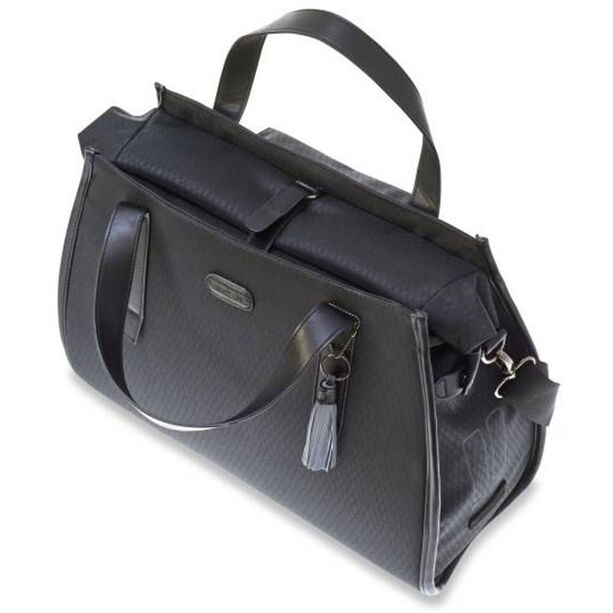 Basil Noir Business Luggage Pannier Bag 17l midnight black